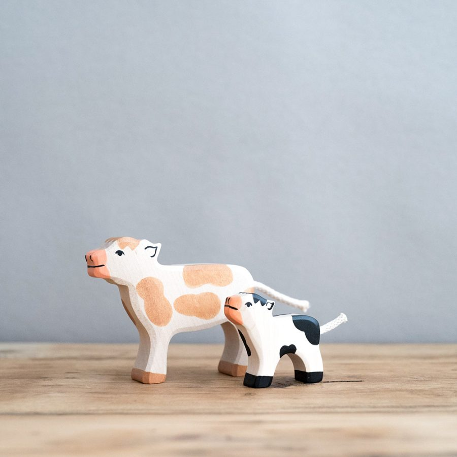 HOLZTIGER 德國木製動物積木 / 小牛