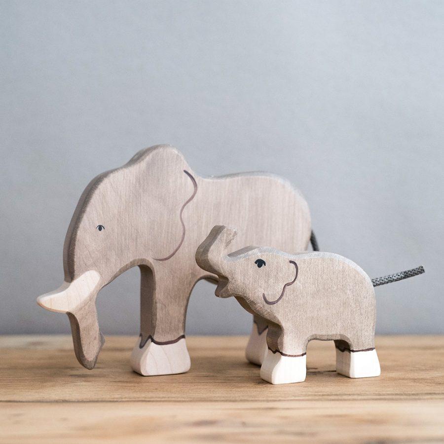 HOLZTIGER 德國木製動物積木 / 大象
