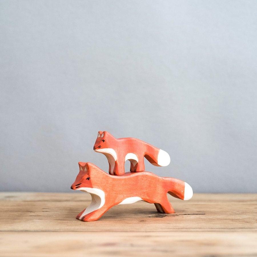 HOLZTIGER 德國木製動物積木 / 狐狸