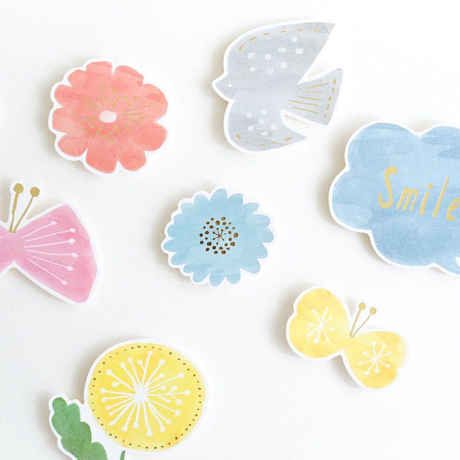 Kazokutte 生日系列插畫壁飾 / 花