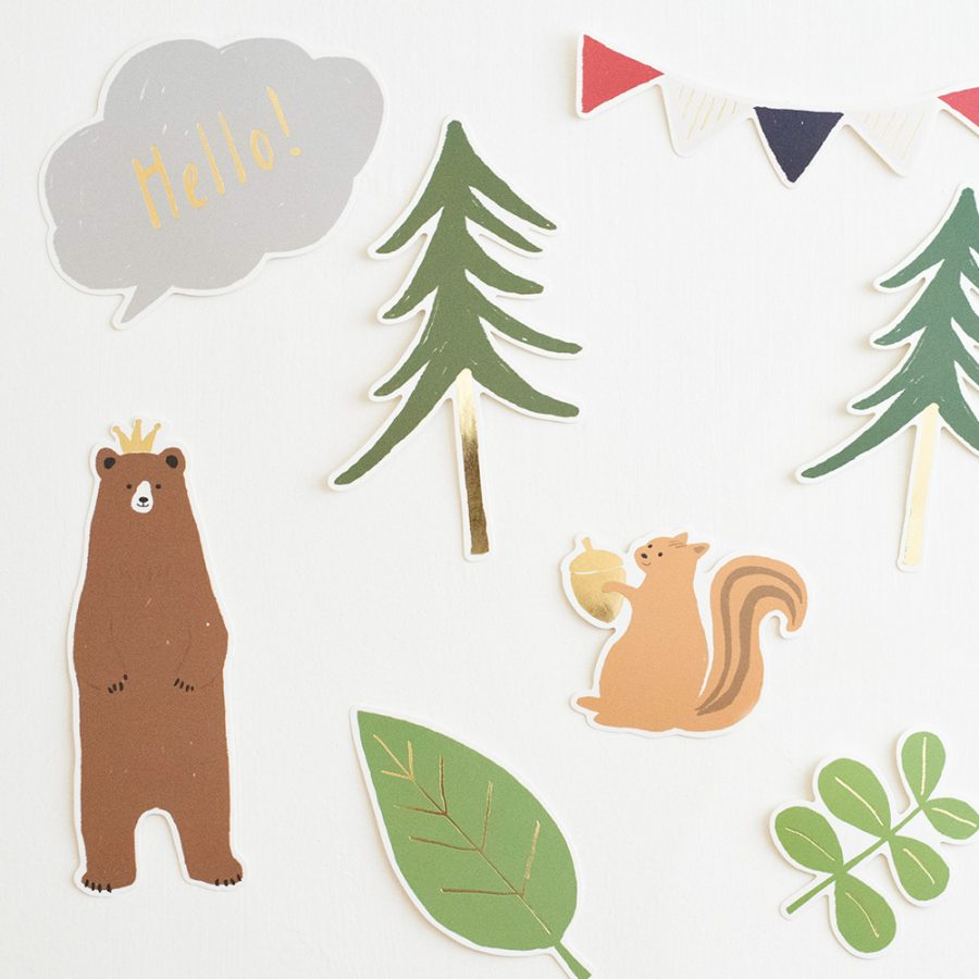 Kazokutte 生日系列插畫壁飾 / 森林