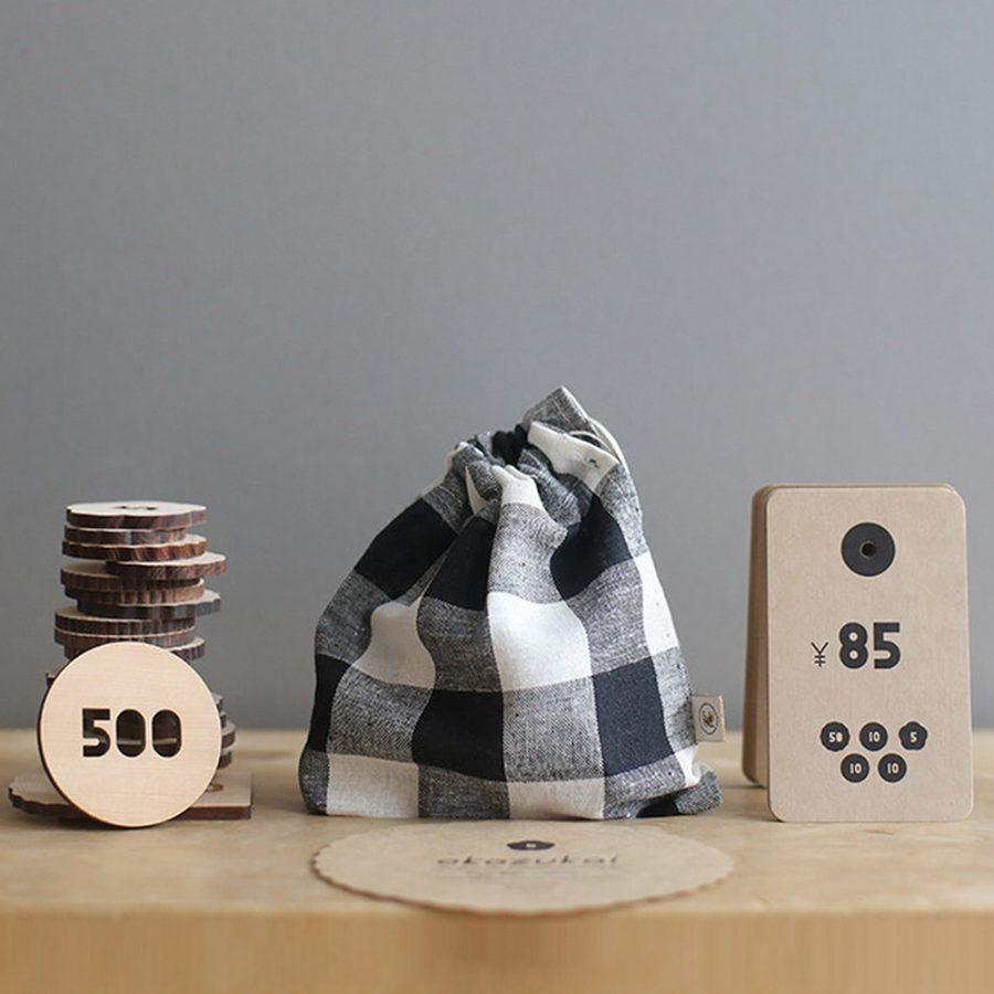 Sukima okozukai 零用錢木製玩具 / 小布袋