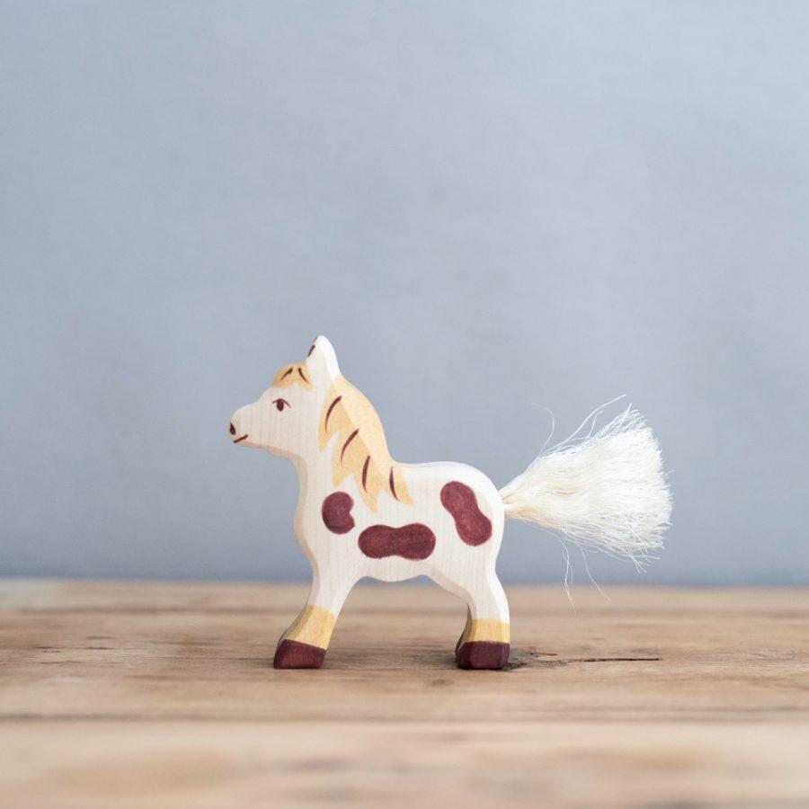 HOLZTIGER 德國木製動物積木 / 小馬
