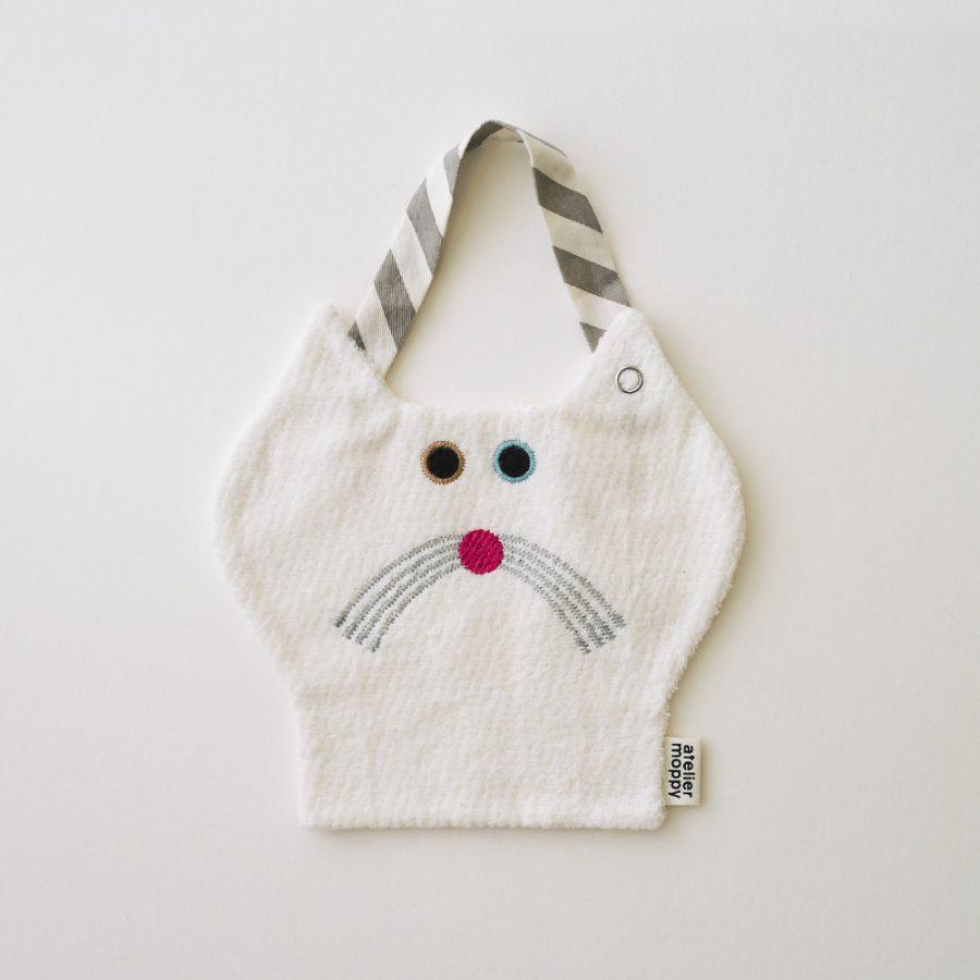 atelier moppy bib 貓圍兜 – 白色