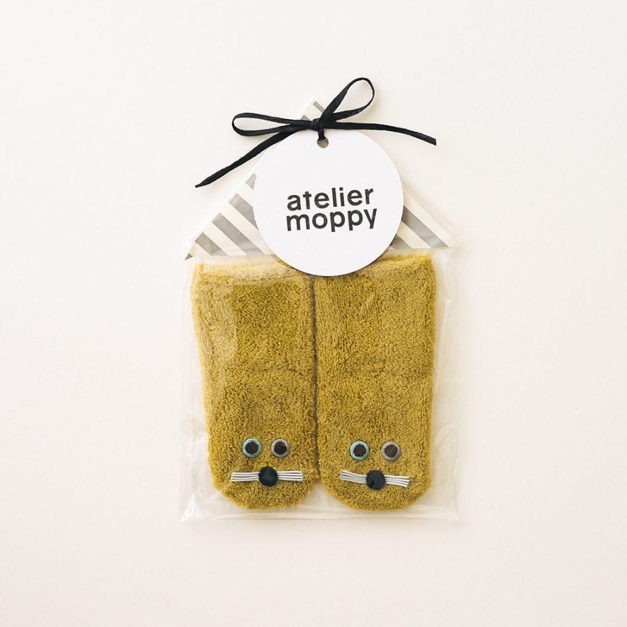 atelier moppy 嬰兒絨毛襪子