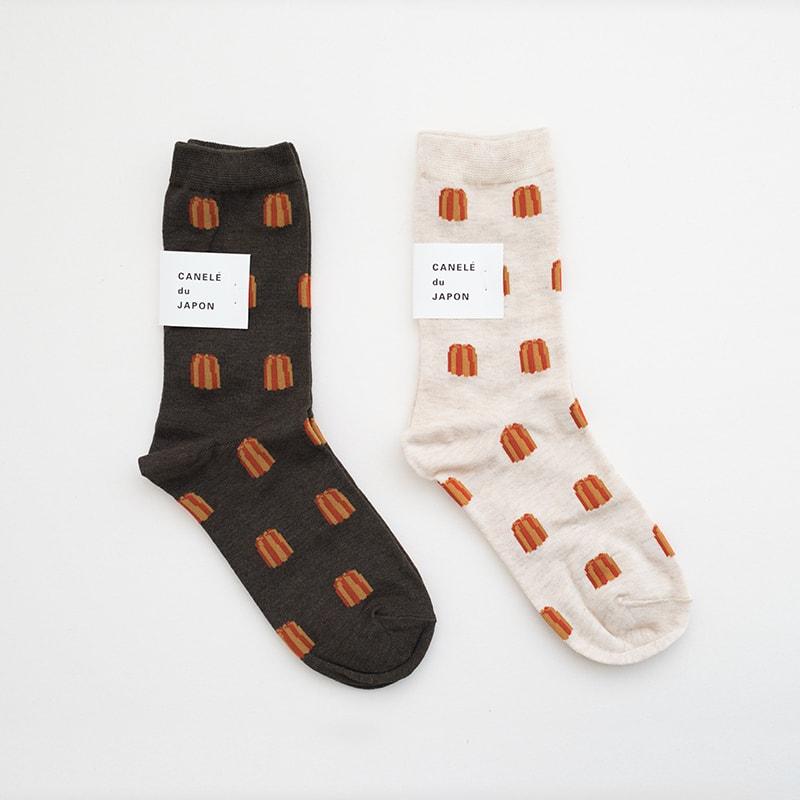 CANELÉ du JAPON 奈良製可麗露襪子 / 大人用
