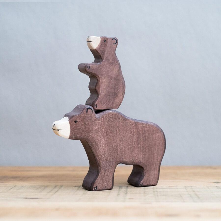HOLZTIGER 德國木製動物積木 / 棕熊