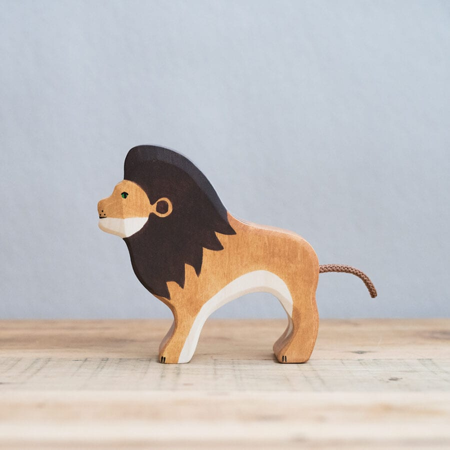 HOLZTIGER 德國木製動物積木 / 獅子