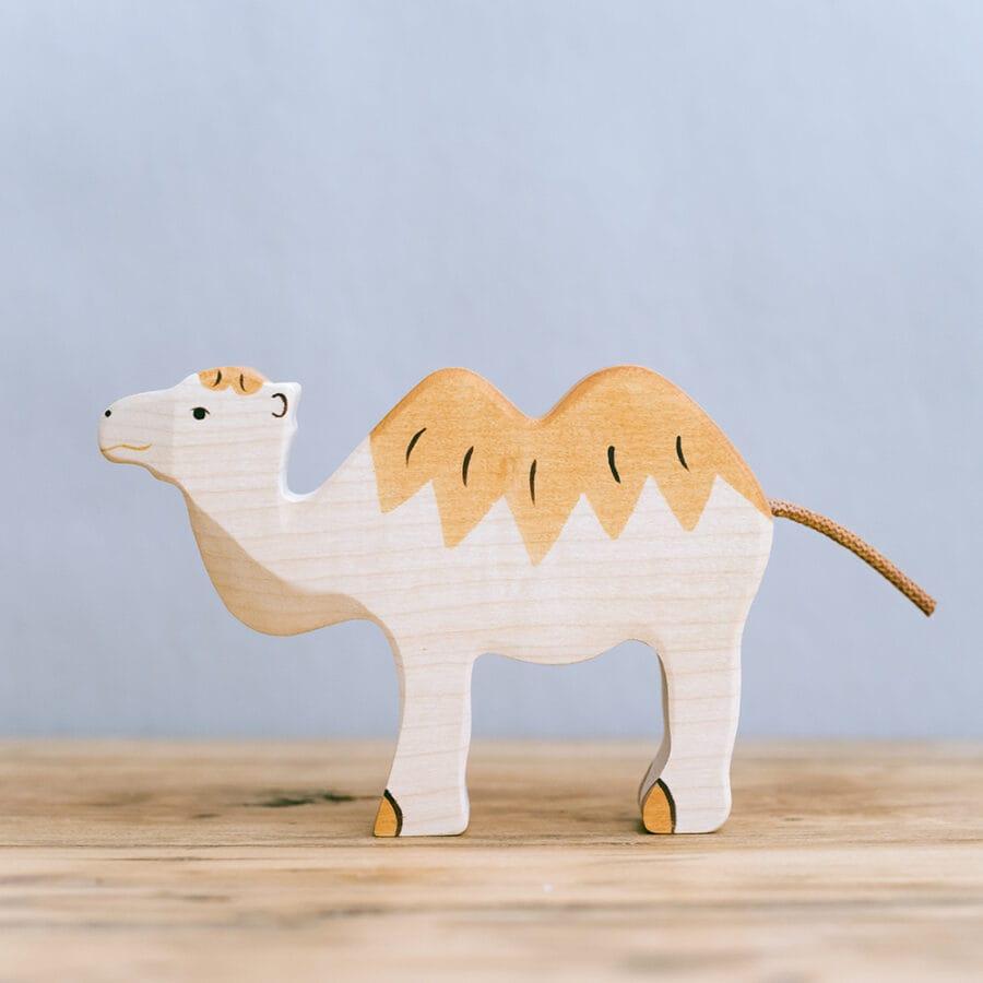 HOLZTIGER 德國木製動物積木 / 駱駝
