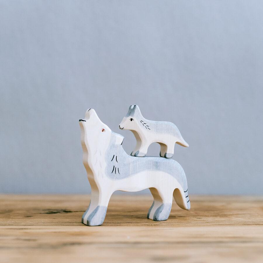 HOLZTIGER 德國木製動物積木 / 狼